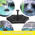 Water Fountain Pump 1.4W Solar Outdoor Fountain Pump Birdbath, Flower Shape Design, Freestanding Floating Solar Bird Bath, Solar Panel Kit Submersible Water Pump for Pond, Garden