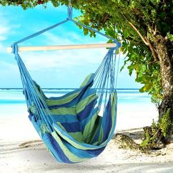Hammock Chair Hanging Swing Indoor and Outdoor Use Large Swinging Seat Chair for Patio,Bedroom,Tree,Hanging Hammock crame Bar Chair Swing Outdoor Home Garden Patio Chair Seat+2 Cushions