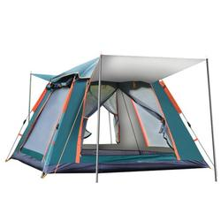 6-7 Person Camping Tent Automatic PopUp Tent Folding Tent Waterproof Anti-UV Travel Outdoor Hiking Beach Fishing Picnic With Carry Bag 7.9x7.9x5 Ft Green/Blue