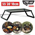 Outdoor Foldable Camping Grill Campfire BBQ Table Portable Cooking Fishing Grate