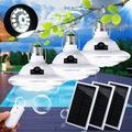 1/2/3/4 Pcs 22 LED E27 Outdoor LED Solar Lamp, Light Control Hooking Camp Garden Lighting Tent Light Indoor Night Lamp, 3 Lighting Modes With Remote Control