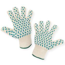 1 PAIR Heat Resistant Gloves Oven Gloves Heat Resistant BBQ Gloves For Grilling BBQ Gloves Heat Resistant Cooking Heat Resistant Gloves Kitchen Heat Gloves High Temp Grill Gloves with S