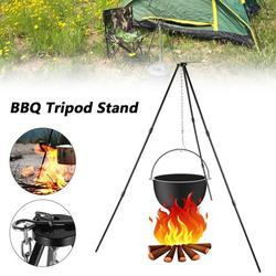 HOTBEST BBQ Grill Outdoor Cooking Tripod Set, Portable Foldable Campfire Grilling Grill Grate Stand, Barbecue Grills Han