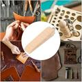 Tebru Time Saving Leather DIY Tool, Easy To Use Lightweight Wooden Sandpaper, Comfortable For DIY Leather Craft Crafts Making Leather Craft Works