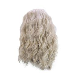 TOYFUNNY Golden Curly Wig Long Loose Curly Long Loose Curly Wig Synthetic Wig Natural