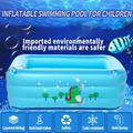 Baby Kids Inflatable Swimming Pool Kiddie Infant Toddlers Swimming Pool Bathtub 51*33.5*18 inch / 59*39.4*21.7 inch