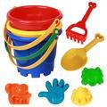 AkoaDa Race Kids Beach Toys for Beach, Snow Toys Sandbox Toys with Truck, Sand Bucket with Sifter, Shovels, Rakes,Kids Outdoor Toys