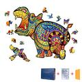 Wooden Jigsaw Puzzles for Adults and Kids, Wooden Puzzle 100 pcs Wooden Animal Shaped Puzzles Unique Shaped Jigsaw Puzzles, Best Gift for Family Game Play Collection