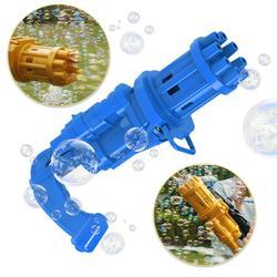 Brongsleet Bubble Machine,Bubble Guns for Kids,Gatling Bubble Machine,Power by 3 AA Batteries,The Best Gift for Children blue