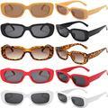 10 Pairs Rectangle Sunglasses Women Retro Glasses Party Pack 90s Square Sunglasses Bulk Wholesale Vintage Shades