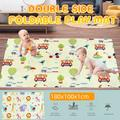70X40inch Double-sided Crawling Mat, Babies Play mat, playmat,Baby mat Folding Extra Large Thick Foam Crawling playmats Reversible Waterproof Portable playmat for Babies