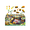 """1: 64 Scale Construction Vehicles Toys with Play Mat, 6 Mini Construction Cars, 3 Road Signs, 2 Toy Tree and 23"""" x 20"""" Playmat, Mini Diecast Cars Play Sets, Toy Trucks"""