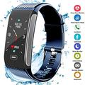 Hocent Fitness Tracker, Activity Fitness Watch Waterproof Pedometer with Sleep Heart Rate Monitor Step Calorie Track Call SMS SNS Alert Stopwatch for Men Women Teens Compatible for Andr