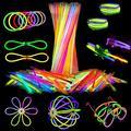Attikee 448 PCS Glow Sticks Bulk, Glow Party Supplies, 8 Inch 7 Colors 200PCS Glow Sticks & 248PCS Connectors for Eyeglasses Balls Flowers Necklaces Bracelets, Glow in Dark Light Sticks
