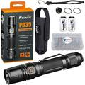 Fenix PD35 V2.0 LED Rechargeable Tactical Flashlight 1000 Lumens with 2 CR123 Batteries and Lightjunction Battery Box