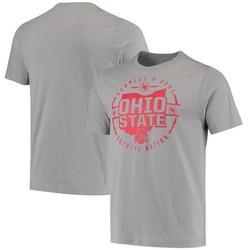 Ohio State Buckeyes Colosseum Buckeye Nation State T-Shirt - Gray
