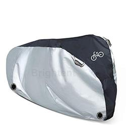 Heavy Duty Bike Cover Outdoor Waterproof Bicycle Covers Rain Sun UV Dust Wind Proof with Lock Hole for Mountain Road Electric Bike. for 1 Bike, or for 2 Bikes(Stationary L-for 1 Bike)