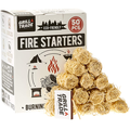 Grill Trade Firestarters - Natural Fire Starters Burn Wood Stove Grill Fireplace Camping Pit BBQ Charcoal Chimney Pizza Oven - 50 Firelighters in Box