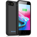 Battery Case for iPhone 8/7/6s/6/SE(2020), Upgraded 6000mAh Portable Rechargeable Charger Case for iPhone 6s/6 Extended Battery Pack for iPhone 8/7/SE(2020) Protective Charging Case (4.7 i