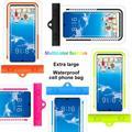 Shengshi Universal Waterproof Pouch, IPX8 Waterproof Cellphone Dry Bag Underwater Case for iPhone 12 Pro Max 11 Pro Max Xs Max XR X 8 7 6S, Galaxy S20 Ultra S10 Note10 9 Orange