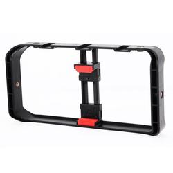 Andoer Portable Smartphone Video Rig Handheld Phone Stabilizer Grip Filmmaking Smartphone Cage with Phone Holder 3 Cold Shoe Mounts 1/4 Inch Screw Holes Replacement for 12/12 Pro/ 12 Pro Ma