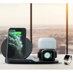 Wireless Charging Stand for Apple Watch Series , Charging stand for AirPods,3 in1 wireless charger stand for iPhone ,Sumsung and all other QI-Enable Devices