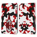 Head Case Designs Officially Licensed AC Milan Crest Patterns Camouflage Leather Book Wallet Case Cover Compatible With Amazon Kindle Paperwhite 1 / 2 / 3