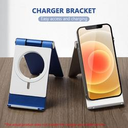 Yinrunx Wireless Phone Charger Stand Iphone Aluminum Alloy Foldable Mobile Phone Stand Desktop Stand Phone Universal Stand for Portable Charger Stand Charging Station for Iphone 12mini 12 Pro Max