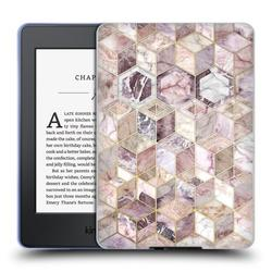 Head Case Designs Officially Licensed Micklyn Le Feuvre Marble Patterns Blush Quartz Honeycomb Soft Gel Case Compatible with Amazon Kindle Paperwhite 1 / 2 / 3