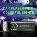 HEVIRGO 505 12V Universal Colorful Lights Car MP3 Player Powerful Bluetooth AUX U Disk TF MP3 Radio Player for Auto Center Control Modification