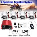 4 Motorcycle Speakers Anti-theft b luetooth Host Set Amplifier Wireless Audio System AUX Radio Support USB/TF