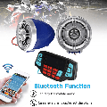 3'' For h Motorcycle Handlebar Audio System USB SD FM Radio MP3 Speakers US
