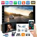 Vtin Android 2DIN 7-inch Android system 8.1 car MP5 GPS, navigation mobile phone interconnect 9210 + 8 lights rear camera Black