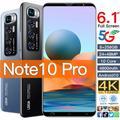Smartphone Note 10 Pro débloqué, téléphone portable, 4g/5g, Android, écran HD de 6.1 pouces, à