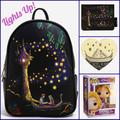 Disney Bags   Loungefly Disney Tangled Lightup Mini Backpack Set   Color: Black/Gold   Size: 4 Pc. Set