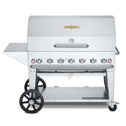 """Crown Verity CV-MCB-48-SI50/100-PKG 46"""" Mobile Gas Commercial Outdoor Charbroiler w/ Roll Dome, Liquid Propane"""