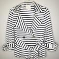 Kate Spade Jackets & Coats | Kate Spade S Striped Knit Jacket W Bow Back | Color: Black/White | Size: S