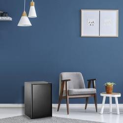 GORGR Compact Refrigerator w/ Freezer, Energy Star 3.2 Cu.Ft Mini Fridge w/ Reversible Door, 5 Settings Temperature Adjustable For Kitchen, Bedroom
