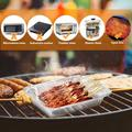 pixnor 20Pcs Disposable BBQ Drip Pan Tray w/ Lid Aluminum Foil Tin Liners For Grease Catch Pans Replacement Liner Trays in Black/White | Wayfair