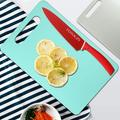 Glaustoncn Plastic Cutting Board Sets For Kitchen, Durable Plastic Chopping Mat Set Of 2 w/ Hanging Hole, Flexible, Dishwasher Safe, BPA-Free