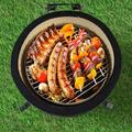 """Pannow 15"""" Barbecue Charcoal Grill, Outdoor Ceramic Kamado Grill w/ Side Table For Camping & Picnic in Gray/Green, Size 24.0 H x 20.8 W x 20.8 D in"""