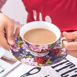 SpicyMedia Tea Cups & Saucers Set Of 6, Tea Set, Floral Tea Cups (8Oz), Tea Cups & Saucers Set, Tea Set, Porcelain Tea Cups, Tea Cups For Tea Party