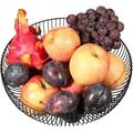 Latitude Run® Metal Wire Fruit Basket, Metal Wire Countertop Fruit Bowl Vegetable Basket Holder Decorative Stand For Bread, Snacks in Black | Wayfair