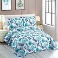 Highland Dunes Beach Reversible Quilt Set Full/Queen Size Ocean Lightweight Bedspread Coverlet Set w/ Coral Leaves Seaweed Seahorse -1*Quilt Wayfair