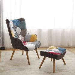 George Oliver Patchwork Armchair Sets Sofachair in Brown/Green/White, Size 98.0 H x 68.0 W x 76.0 D in   Wayfair D66C5069675F49638D074135C35B1839