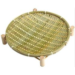 Bayou Breeze Handmade Bamboo Small Bamboo Baskets w/ Wooden Shelves, Storage Baskets, Snack Baskets, Vegetables/Fruits, Bread, Storage Baskets