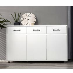 """Latitude Run® 52.36"""" X 15.74"""" X 32.08"""" Storage Drawer File Cabinet Nightstand Side Cabinet Entryway Console Side Tableswith Three Drawers in White"""