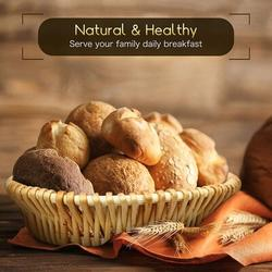 Bayou Breeze Bread Basket For Wicker Bread Serving Basket For Homemade Sourdough Bread Or Rolls Fruit & Pantry Basket in Brown | Wayfair