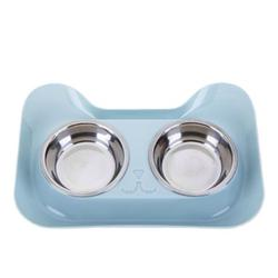 ankishi Double Stainless Steel Pet Bowls PC Durable Non-shedding Non - Slip Design Pet Food Water High Feeder for Cat Dog