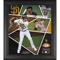 """""""Manny Machado San Diego Padres 15"""""""" x 17"""""""" Impact Player Collage with a Piece of Game-Used Baseball - Limited Edition 500"""""""